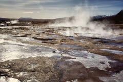Aguas termales Strokkur aseado Geysir Foto de archivo