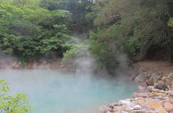 Aguas termales termales Taipei Taiwán de Beitou del valle Fotografía de archivo