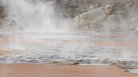Aguas termales volcánicas almacen de video