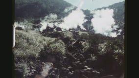 Aguas termales volcánicas de Fuji metrajes
