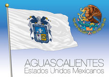 Aguascalientes regional flag, United Mexican States, Mexico Stock Image