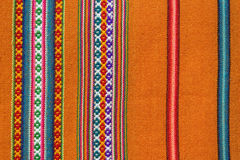 Aguayo andean  loom. Andean textile yarn and woven by hand in wool Royalty Free Stock Photos