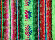 Aguayo andean  loom. Andean weaving loom made in bright colors Royalty Free Stock Image