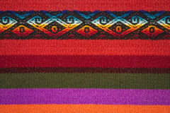 Aguayo andean  loom. Andean weaving loom made in bright colors Royalty Free Stock Photography