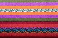 Aguayo andean  loom. Andean weaving loom made in bright colors Stock Photos