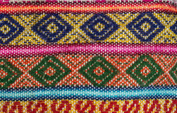 Aguayo andean  loom. Andean weaving loom made in bright colors Stock Photography
