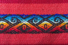 Aguayo andean  loom. Andean weaving loom made in bright colors Royalty Free Stock Images