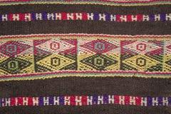 Aguayo andean vävstol Fotografering för Bildbyråer