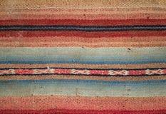 Aguayo andean vävstol Arkivbilder