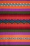 Aguayo andean vävstol Arkivfoto