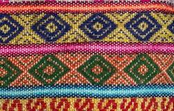 Aguayo andean vävstol Arkivbild