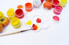 Aguazo de la pintura y calabaza plástica Día de fiesta de Halloween foto de archivo