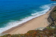 Aguda beach in Magoito, Portugal. royalty free stock image