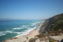 Aguda Beach in portugal Royalty Free Stock Photography