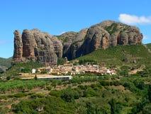 Aguero, Huesca (Hiszpania) Obraz Royalty Free