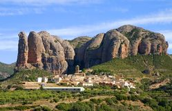 Aguero, Huesca, Spagna Immagine Stock Libera da Diritti