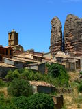 Aguero, Huesca ( Spain ) Stock Photography