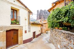 Aguero wioska w Hiszpania Fotografia Stock