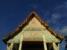 Aguilón del edificio en templo del budismo foto de archivo