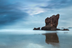 Aguilar Mirror. Aguilar beach in Asturias. North of Spain Stock Images