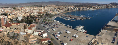 Aguilas - Costa Blanca - Spain. The Mediterranean port of Aguilas on the Costa Calida in Murcia in southeastern Spain Royalty Free Stock Image