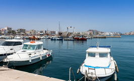 Aguilas harbor Stock Photos