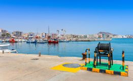 Aguilas harbor. Murcia Province Spain Royalty Free Stock Photos