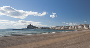 Aguilas Harbour and beach Stock Photo