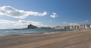 Aguilas Harbour and beach. Murcia, Spain Stock Photo