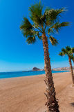 Aguilas Levante beach Murcia in Spain Stock Photos