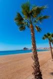Aguilas Levante plaża Murcia w Hiszpania Zdjęcia Stock