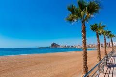 Aguilas Levante plaża Murcia w Hiszpania Zdjęcie Stock