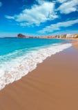 Aguilas Levante plaża Murcia w Hiszpania Obrazy Royalty Free