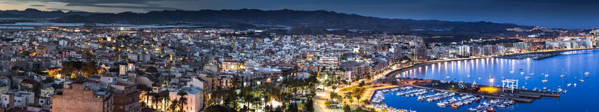 Aguilas. Panorama just before sunset Stock Image