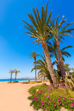 Aguilas Poniente beach Murcia in Spain. Aguilas beach Murcia Poniente bay at Mediterranean sea of Spain Royalty Free Stock Photography