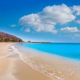 Aguilas Poniente beach Murcia in Spain. Aguilas beach Murcia Poniente bay at Mediterranean sea of Spain Royalty Free Stock Photos