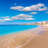 Aguilas Poniente beach Murcia in Spain Stock Photos