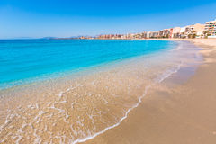 Aguilas Poniente beach Murcia in Spain Royalty Free Stock Photography