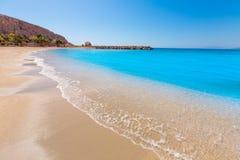 Aguilas Poniente plaża Murcia w Hiszpania Zdjęcia Stock