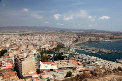 Aguilas, province of Murcia, Spain. Cityscape of Mediterranean town Aguilas, province of Murcia, Spain Royalty Free Stock Images