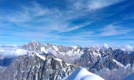 Aguile de Midi Alpinistyczny pięcie Zdjęcia Royalty Free