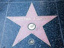 aguilerachristina hollywood s stjärna Arkivfoto