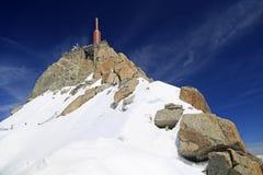 Aguille du Midi in alpi francesi, Chamonix-Mont-Blanc Immagini Stock