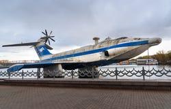 Aguilucho ekranoplan soviético de A-90 Orlyonok en museo de la marina de guerra moscú Rusia Fotos de archivo