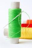 Aguja con cuerdas de rosca Imágenes de archivo libres de regalías