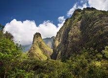 Aguja de Iao en Maui Imagen de archivo