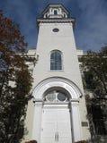 Aguja de la capilla en Georgetown foto de archivo