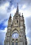 Aguja de la iglesia de la basílica, Quito Imagen de archivo libre de regalías