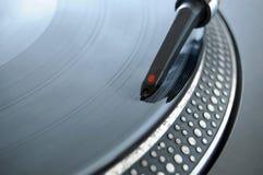 Aguja de registro de DJ Foto de archivo libre de regalías