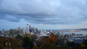 Aguja del espacio de Seattle almacen de metraje de vídeo